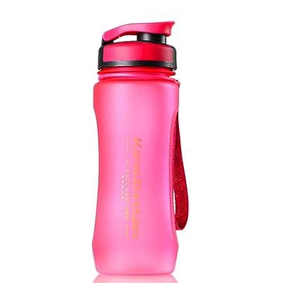 600ml Sports d'hydratation Bouteille d'eau–sans BPA Tritan Sports bouteilles d'eau anti-fuites Boisson flacons givré Bouteille d'eau en plastique avec couverc