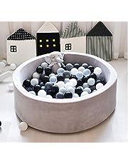 حوض كرة للاطفال الصغار من فانتريس بمادة اسفنجية مستديرة صغيرة لحمام السباحة للاطفال الرضع، كما انها تشكل هدية مثالية للاطفال الصغار، لون رمادي فاتح