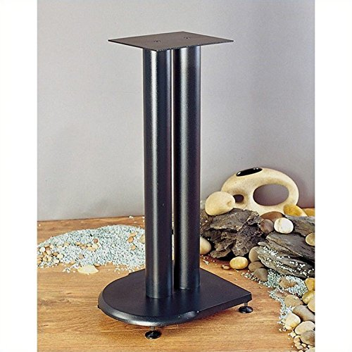 "VTI UF Series Speaker Stands Pair in Black-24"" Height"