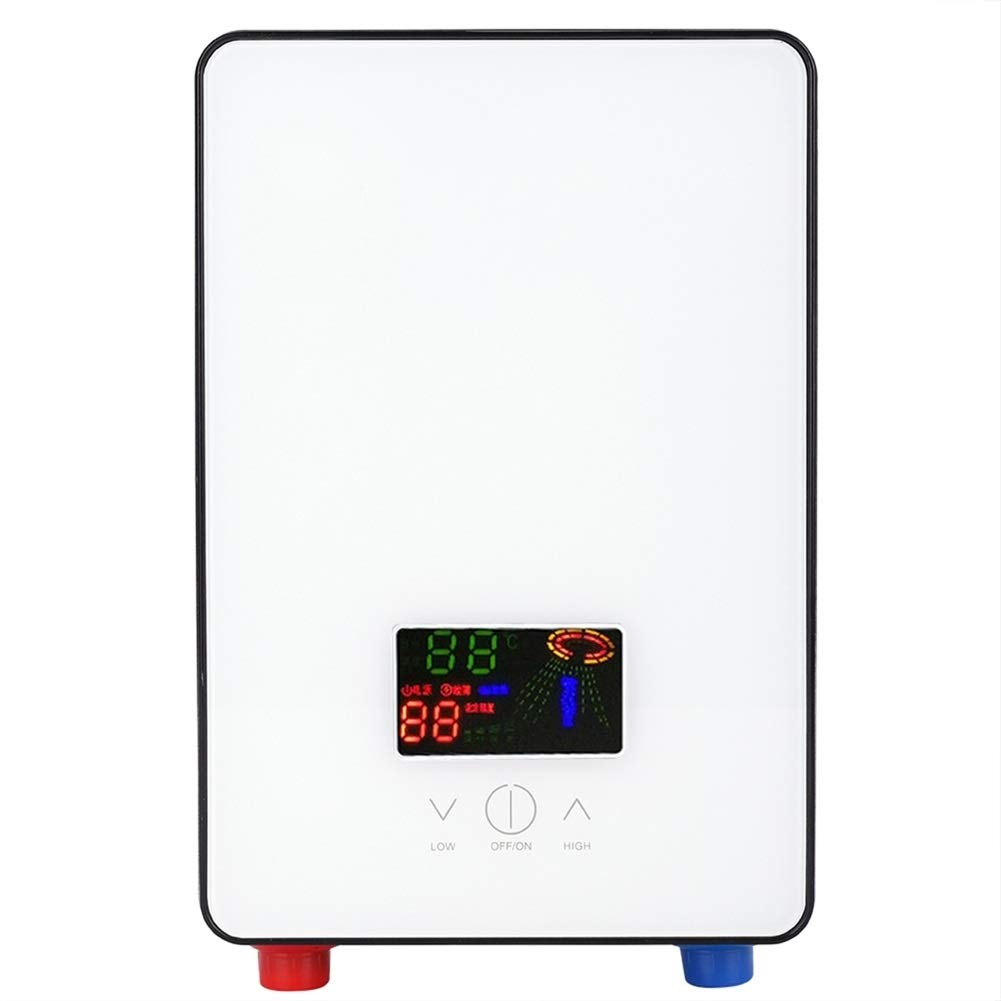 Electric Water Heater - 220V 6500W Tankless Instant Electric Hot Water Heater for Home Bathroom Shower by Bracon