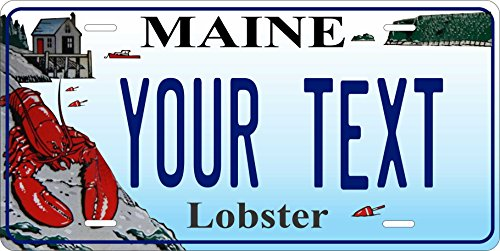 (Maine Lobster Personalized Custom Novelty Tag Vehicle Car Auto Motorcycle Moped Bike Bicycle License)