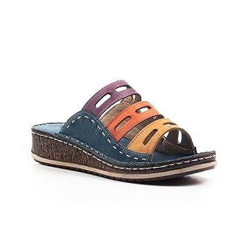 Ouvert Shoes Coutures Toe Pour Compensées Tricolores Modèle Bout Dernier Sandales Semelles Talon Femmes2019 Baiwka À Peep rsQdxthC