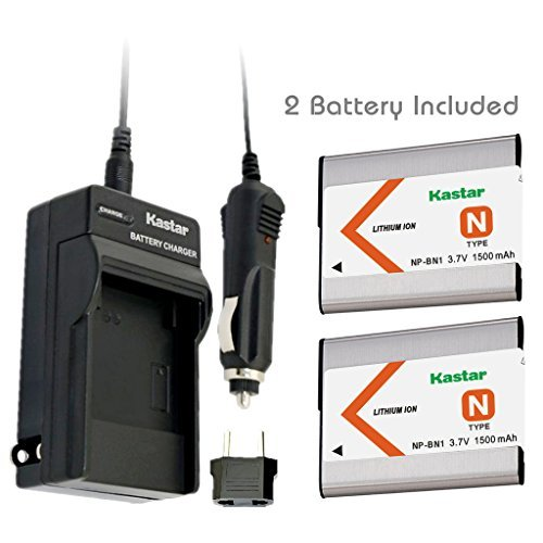 Kastar-Battery-2-Pack-and-Charger-Kit-for-NP-BN1-BC-CSN-work-with-Sony-Cyber-shot-DSC-QX10DSC-QX100DSC-T99DSC-T110DSC-TF1DSC-TX5TX7TX9DSC-TX10DSC-TX20DSC-TX30DSC-TX55DSC-TX66DSC-TX100VDSC-TX200VDSC-W3
