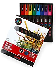 POSCA Colouring PC-3M kleurmarkerset met 8 kleuren – in geschenkdoos