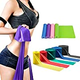 LIXIANGNAN 5PCS Yoga Elastic Straps For Workout And Stretching Rubber Resistance Belt Fitness Band