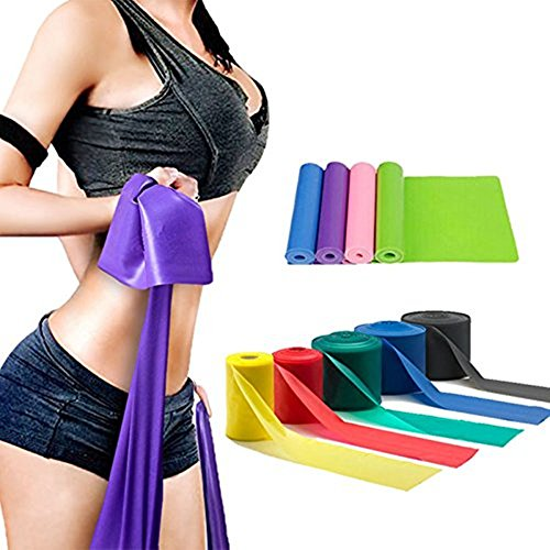 LIXIANGNAN 5PCS Yoga Elastic Straps For Workout And Stretching Rubber Resistance Belt Fitness Band by LIXIANGNAN