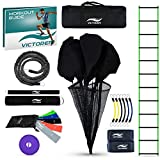 Victorem Ultimate Speed Agility Training Set – Speed Bands, Parachute, Overspeed Bungee, Running Ladder– Physical Fitness Workout Set – Muscle Endurance - Football, Basketball, Soccer, Track and Field