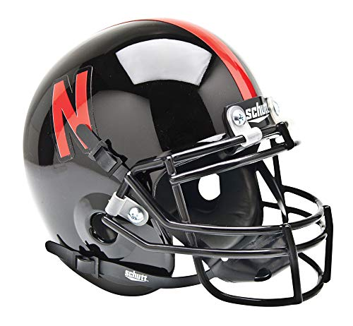 NCAA Nebraska Cornhuskers Collectible Alt 1 Mini Helmet, Black