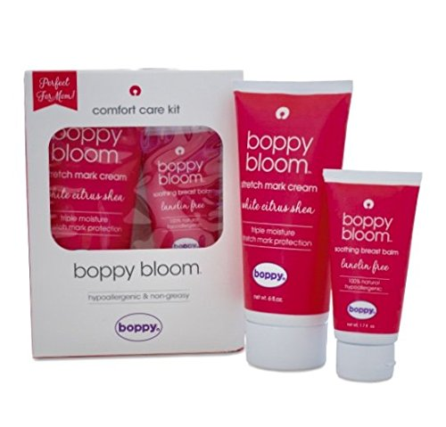 Boppy Bloom Comfort Care Kit Stretch Mark Cream and Soothing Breast Balm (Soothing Balm Comfort)