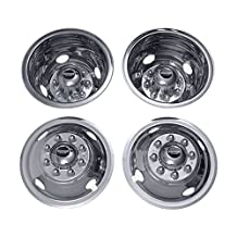 Pacific Dualies 35-1608 Polished 16 Inch 8 Lug Stainless Steel wheel Stimulator Kit for 2000-2002 Dodge Ram 3500 Truck