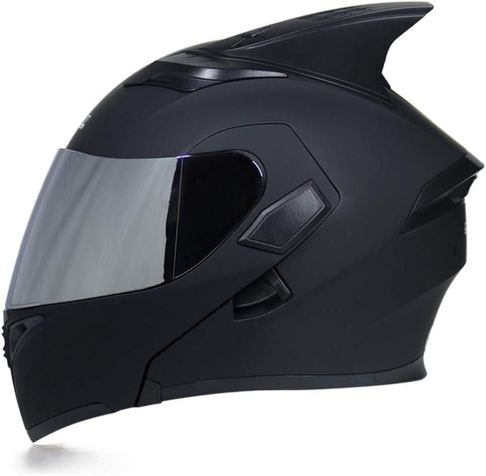 JIEKAI Flip Up Shark Fin Motorcycle Helmet Modular Moto Helmet with Inner  Sun Visor Safety Double Lens Racing Full Face Helmets, Helmets - Amazon  Canada