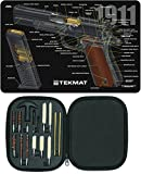 Ultimate Arms Gear Gunsmith & Armorer's Cleaning 1911 Cutaway Color 3D Gun Mat + 17pc Handgun Pistol Cleaning Kit .22/.357/.38/9mm/.44/.45