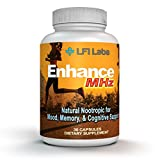 #3: Natural Energy Brain Booster Supplement – Active Focus, Anxiety Relief, & Memory Support - St. John's Wort, L-Glutamine, Ginkgo Biloba, & More - for Students, Adults, & Kids – Nootropic Smart Drug
