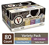 Variety Pack of Morning Blend, 100% Colombian, Donut Shop, & Italian Roast for K-Cup Keurig 2.0 Brewers, 80 Count, Victor Allen's Coffee Single Serve Coffee Pods
