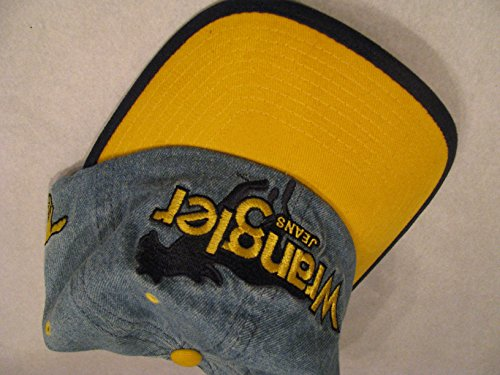 Rare Vintage Hat - Rare Vintage Dale Earnhardt Sr #3 Classic Wrangler Blue & Yellow Faded Blue Denim With Yellow Accents Hat Cap One Size Most OSFM Snapback Plastic Adjustable Strap Chase Authentics