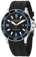 Stuhrling Original Men's 706.02 Aquadiver Regatta Diver Sport II Quartz Date Blue Accent Rubber Strap Watch from Stuhrling Original