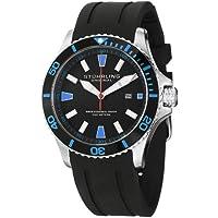 Men's 706.02 Aquadiver Regatta Quartz Date Blue Accent Rubber Strap Diver Watch