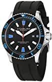 Stuhrling Original Men's 706.02 Aquadiver Regatta Quartz Date Blue Accent Rubber Strap Diver Watch