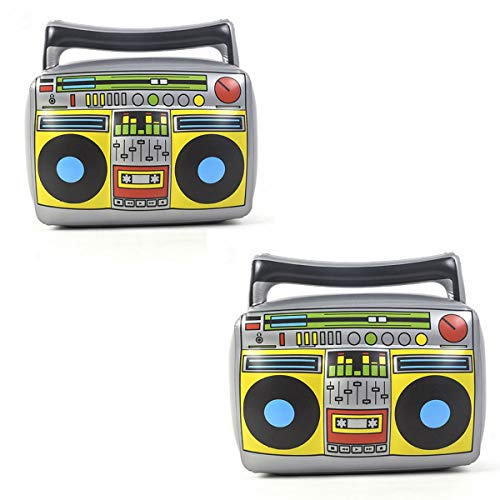 "20"" Party Inflatable Boom Box PVC Radio, Inflatable Props 80s Party Decorations, Pack of 2 -"