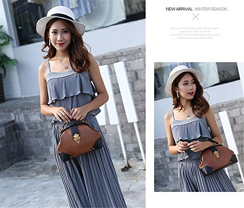 Bolsos de cuero cosido simple XinMaoYuan hombro bolsa Bandolera Bandolera, pintura de color sólido de Dumpling bolsa Negro