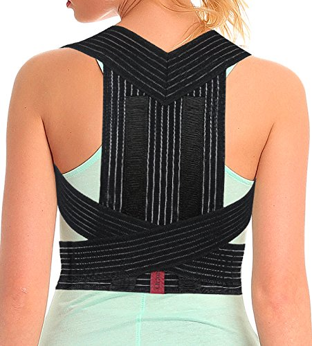 ORTONYX Posture Corrector Back Brace, Clavicle and Shoulders Support, Cool Breathable Materials/M by ORTONYX