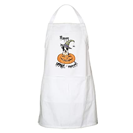 CafePress diseño de Halloween Boston Terrier delantal para barbacoa – Delantal de cocina con bolsillos,