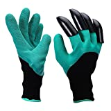 Garden Genie Gloves with Fingertips Right Claws Quick Easy to Dig and Plant Safe for Rose Pruning, Digging Planting Nuursery Plants-1 Pair