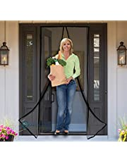 """MAGNETIC SCREEN DOOR - Fits 34""""x82"""" Doors (36""""x83"""" Fly Curtain) - US Military Approved - Reinforced With Full Frame Hook and Loop Fasteners to Ensure All Bugs Are Kept Out - Tough and Durable"""