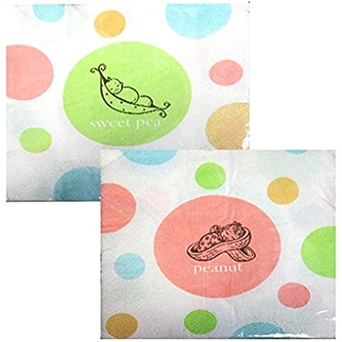 Baby Shower Sweet Pea/Peanut Lunch Napkins (16ct) - Sweet Pea Baby Shower