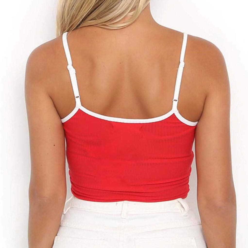 Amazon.com: VESNIBA Women Sexy Adjustable Shoulder Straps Letter Sleeveless Crop Top Vest: Clothing