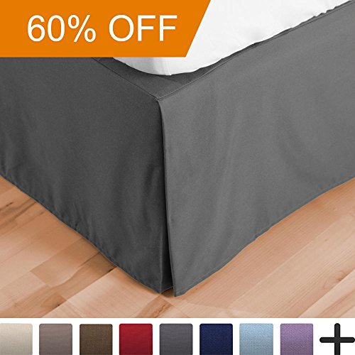 Find Cheap Bare Home Premium Microfiber Bed Skirt