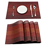 Pauwer Placemats with Table Runner Set Heat