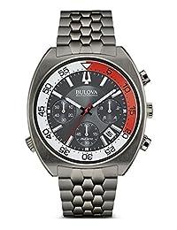 Bulova Men's 'Snorkel' Quartz Stainless Steel Watch, Color:Grey (Model: 98B253)