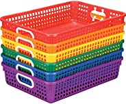 Really Good Stuff Plastic Desktop Paper Storage Baskets for Classroom or Home Use – Plastic Mesh Baskets in Fu