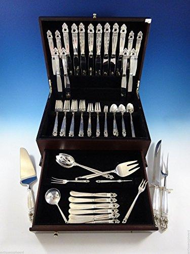 Royal Danish by International Sterling Silver Flatware Set 8 Service 81 - Dinner Danish Royal Knife