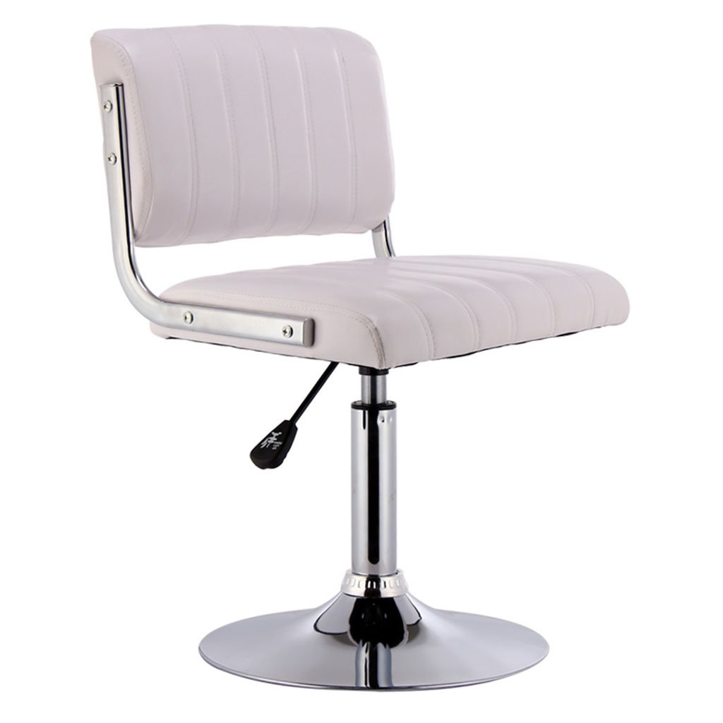White Short models Black Brown Red White High Low Section Leatherette + Sponge Cushion Bar Chair Can Lifting 360 ° Swivel Chair Bar Steel Chair Cashier Tall Stool Backrest Stool Bar Stools