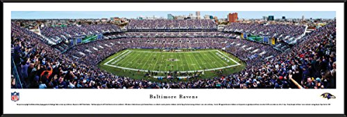 Baltimore Ravens - 50 Yard  - Blakeway Panoramas NFL Posters with Standard Frame ()