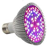 Led Grow light,Castnoo E27 25W Full Spectrum Led Grow Bulb for Veg,Hydroponic,Greenhouse Organic