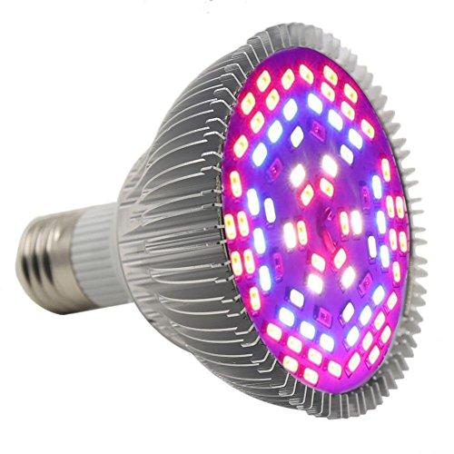 Led Grow light,Castnoo E27 25W Full Spectrum Led Grow Bulb for Veg,Hydroponic,Greenhouse Organic by Castnoo