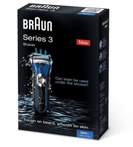 Series 3 380s-4 Wet&Dry - Shaver - blue/black by Braun