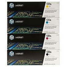 HP OEM 131A 4PK Toner Cartridges for Hp Laserjet Pro M251nw, M276nw Printers -- CF210A Black,CF211A Cyan,CF212A Yellow,CF213A Magenta