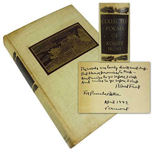 Robert Frost Signed Book w/Handwritten Poem Auto Graded Gem 10! BAS #A71906 - Beckett Authentication