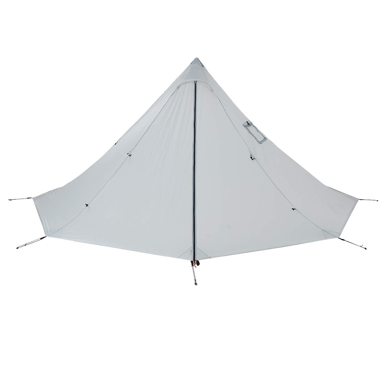 OneTigris Smokey Hut Wasserdichtes Tipi Zelt (Teepee), 2 Personen Leichtes Zelt für Schornstein Camping Outdoor Doppeltes Shelter