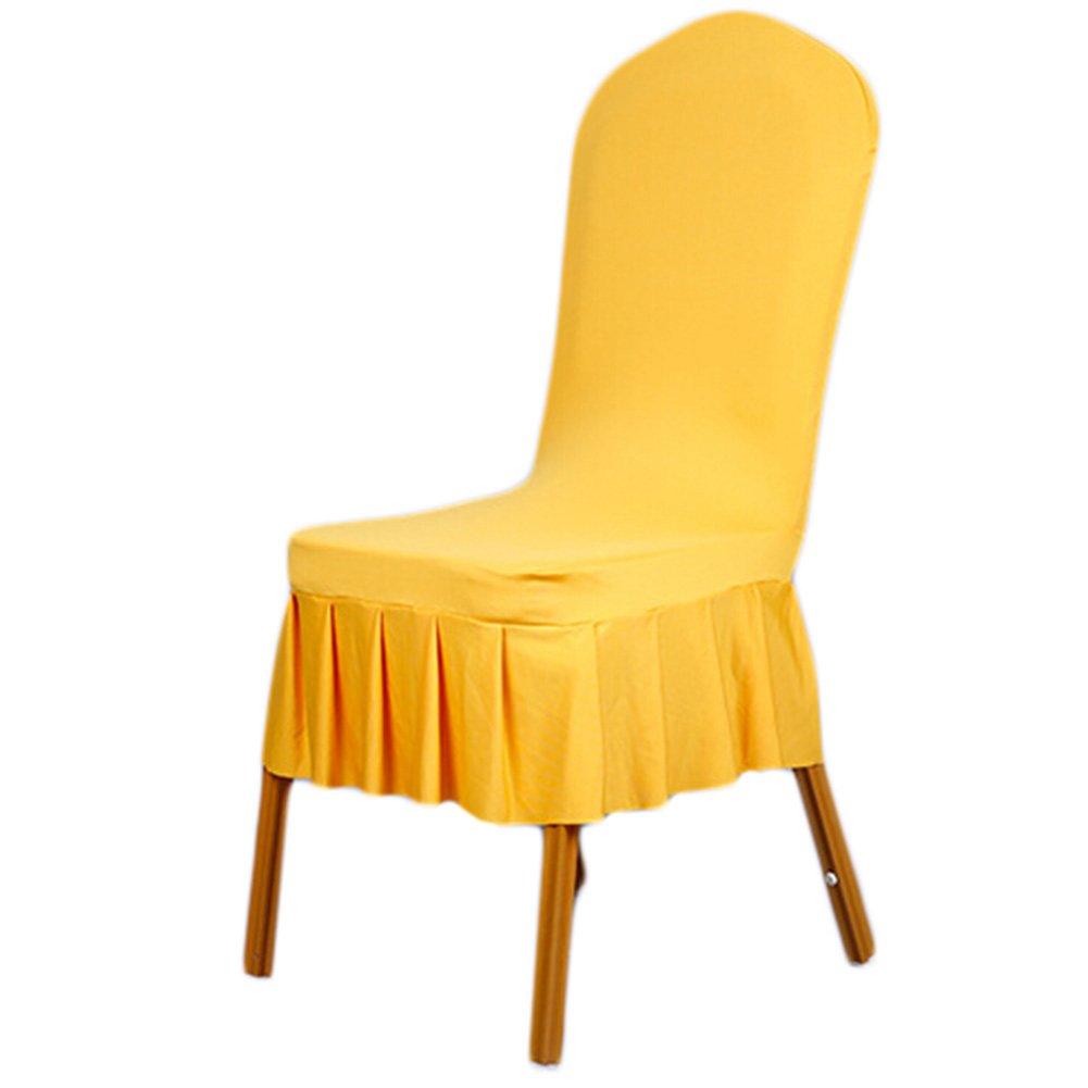 Awtang 1 Pieceスパンデックスプリーツストレッチ椅子カバーダイニングSlipcoversシートプロテクター結婚式、Banquetバーホテルの装飾 awhao-123 B01DKJ7LTA