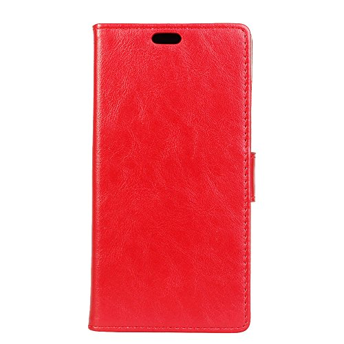 Wallet Flip Leather Case Cover For Asus Zenfone Max ZC550KL (Red) - 7