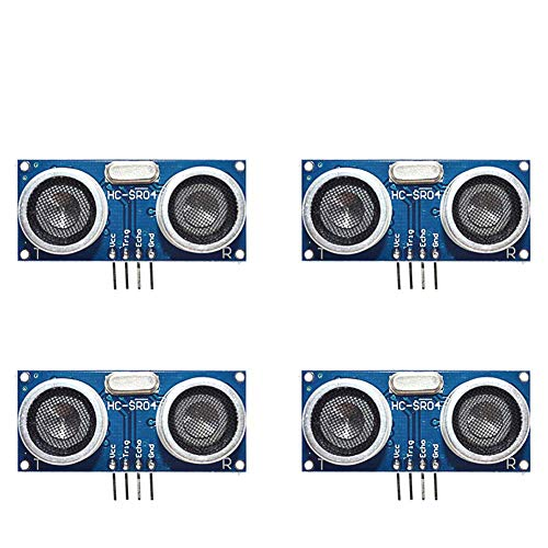 4Pcs HC-SR04 Ultrasonic Ranging Module Support Voltage 3.3V-5V, Distance Measuring Transducer Sensor Ultrasonic Module for Arduino