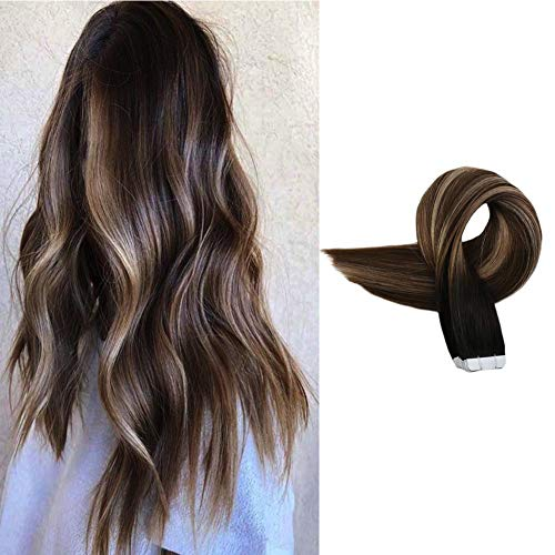 Full Shine Real Hair Tape In Extensions 50grams 14