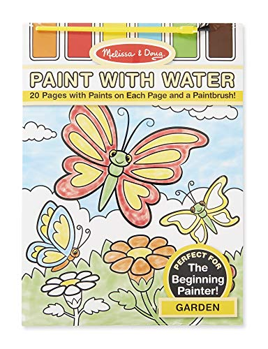Melissa & Doug Paint With Water Activity Set - Garden (20 Pages) ()