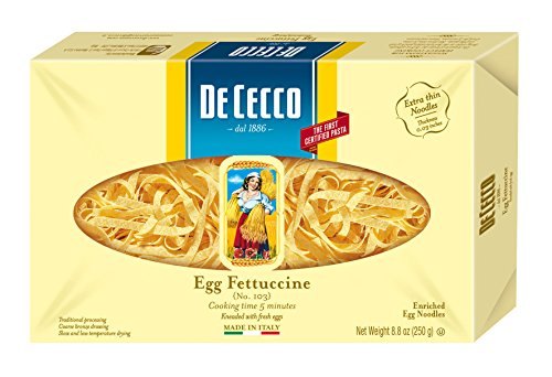 De Cecco Pasta, Egg Fettuccine, 8.8 Ounce (Pack of 4) (Pasta Cecco compare prices)