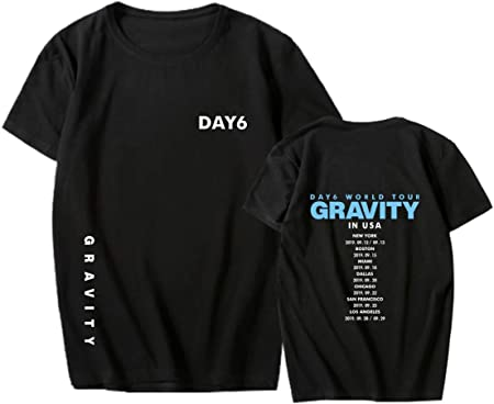 ACEFAST INC DAY6 Gravity Camisa Jae Sung Jin WonPil The Book of Us World Tour Concierto tee Camisa